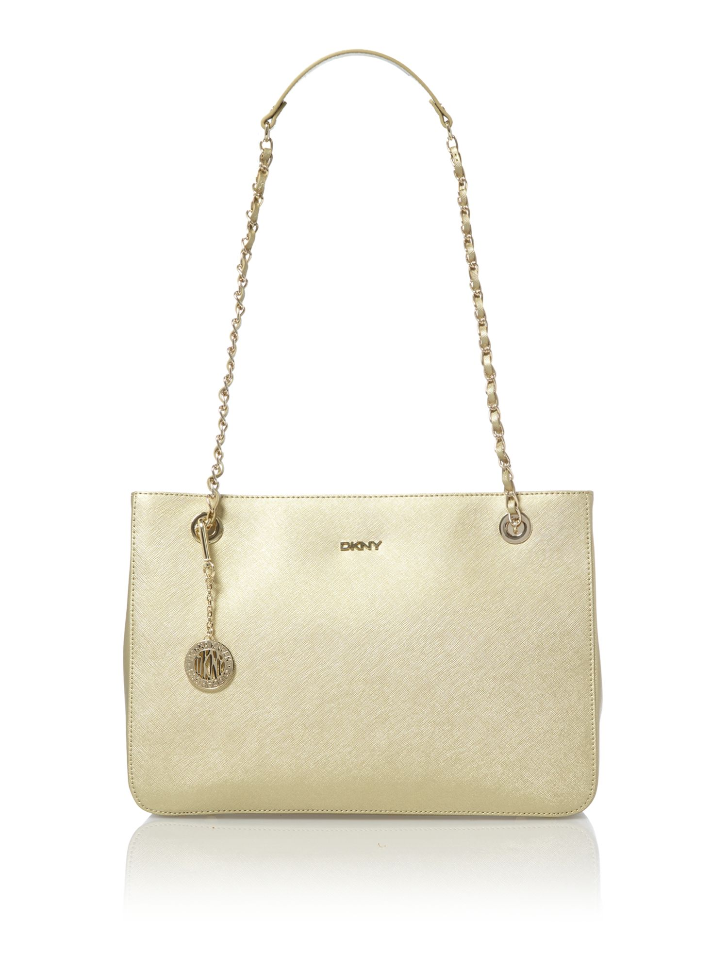 Saffiano gold medium tote bag