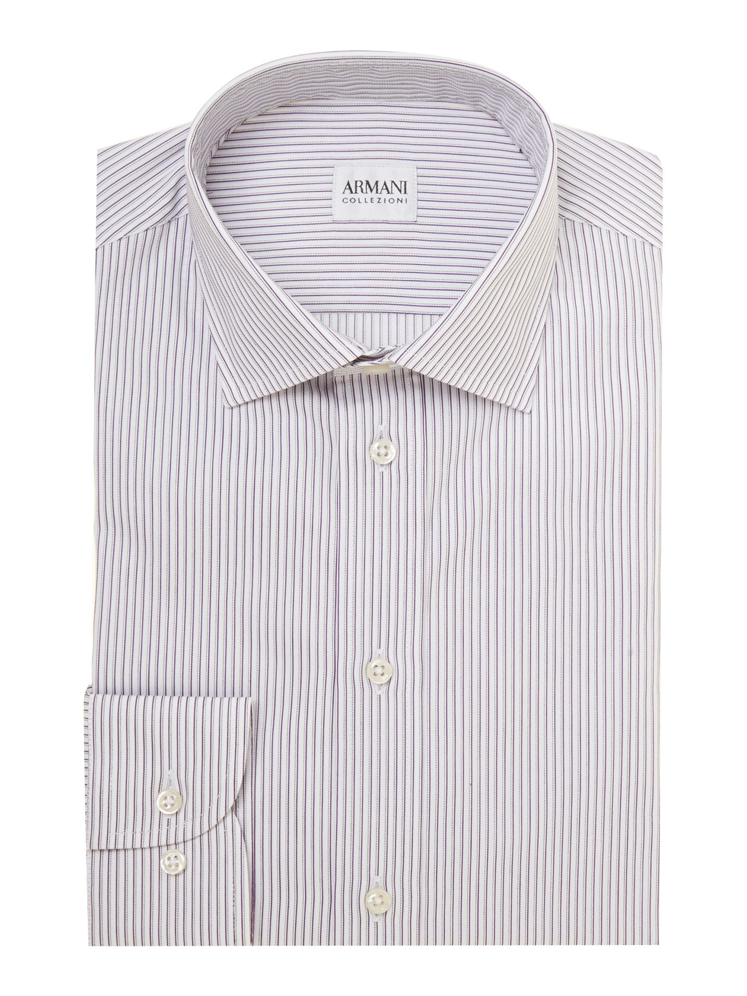 Shadow stripe regular fit shirt