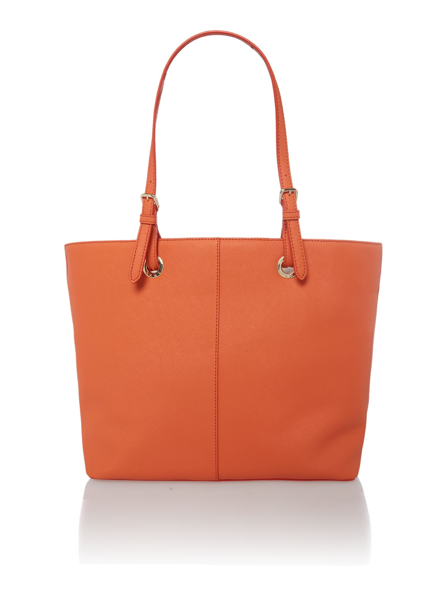 Orange large scarf tote bag