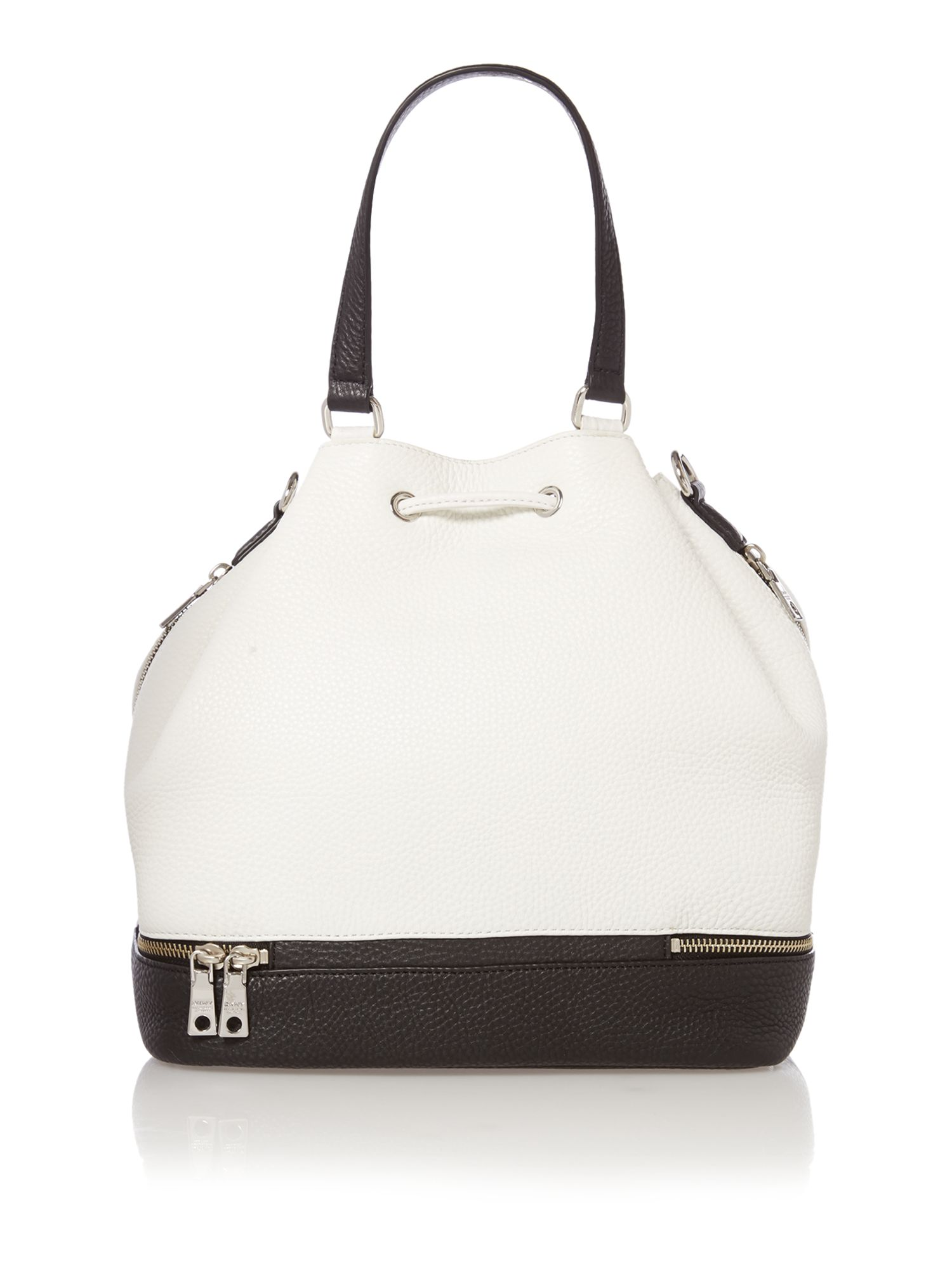 Tribeca colour block mono hobo bag