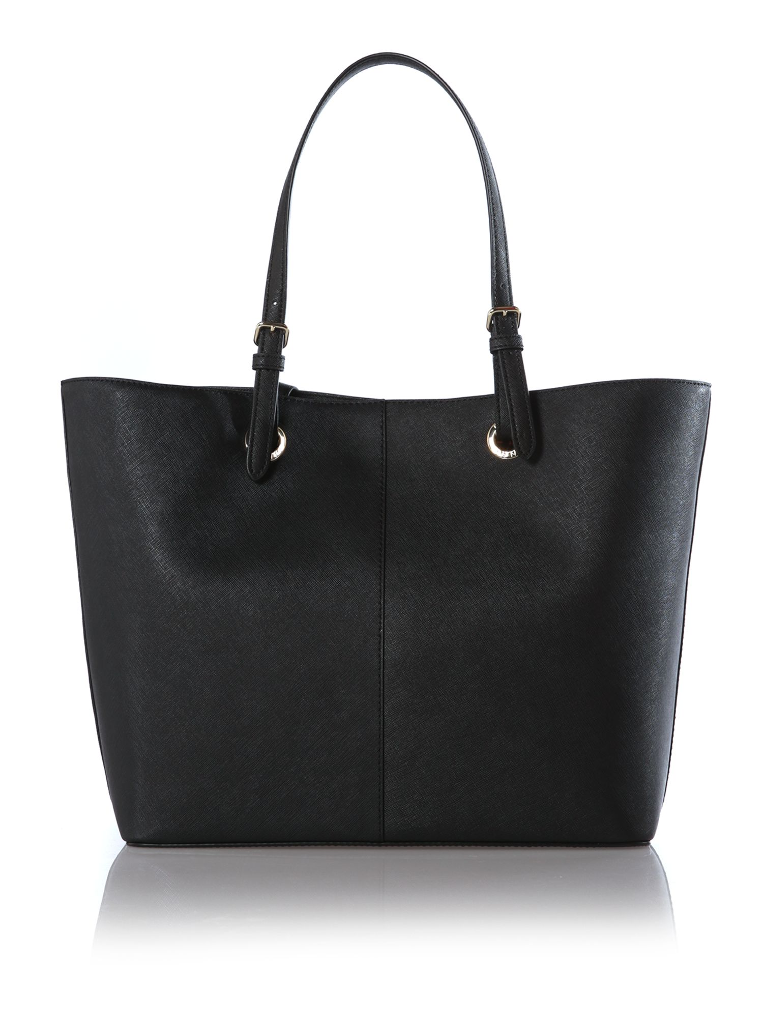 Black large scarf tote bag