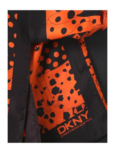 DKNY Black large scarf tote bag