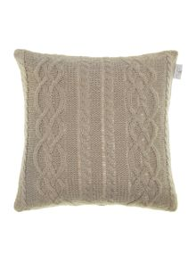 Shabby Chic Mohair effect cable knit cushion