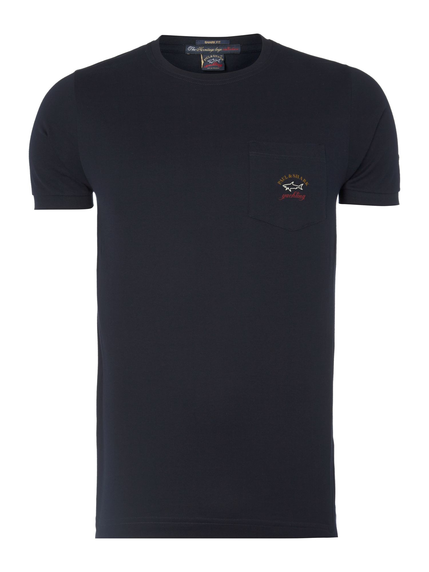 Crew neck slim fit pocket Tshirt