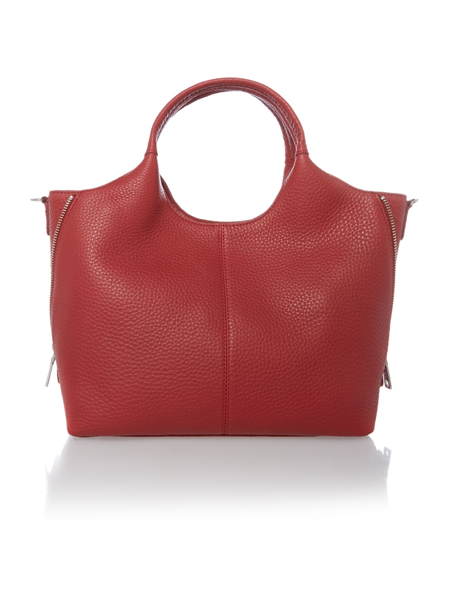 Tribeca soft red medium tote bag
