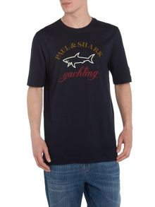 Paul and Shark logo short sleeved tee