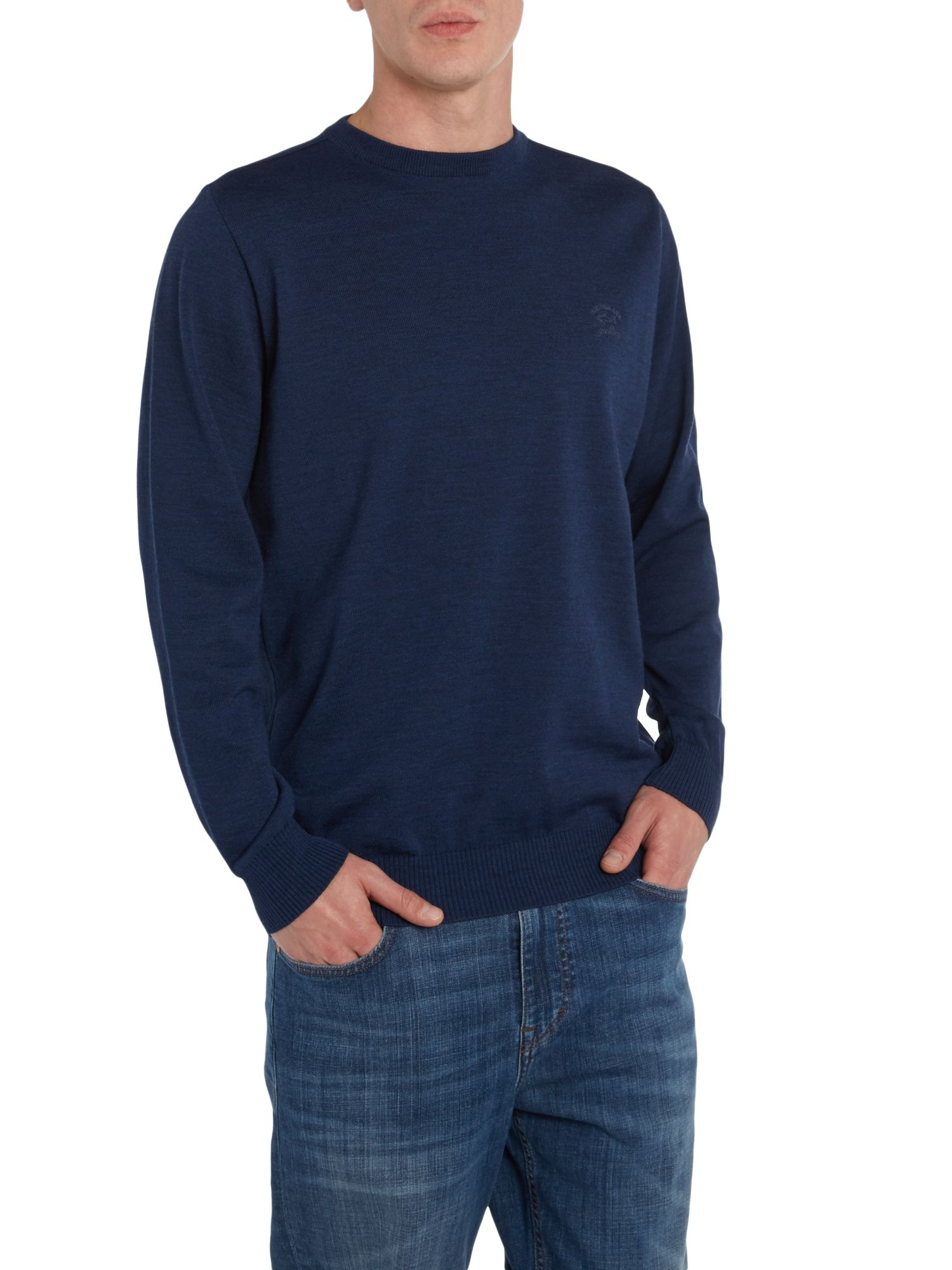 Paul & Shark plain crew neck knit