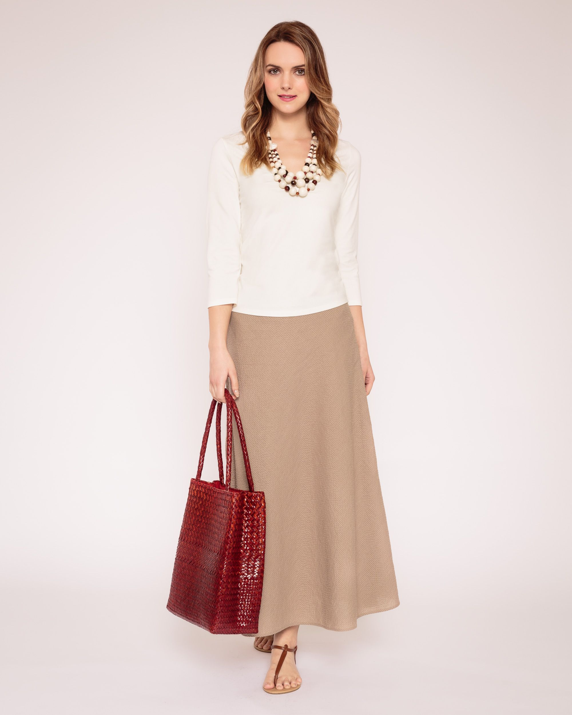 Pleat front linen top