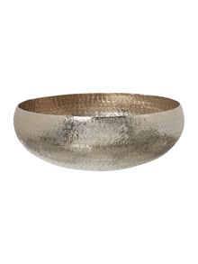 Hammered metal centre piece, small