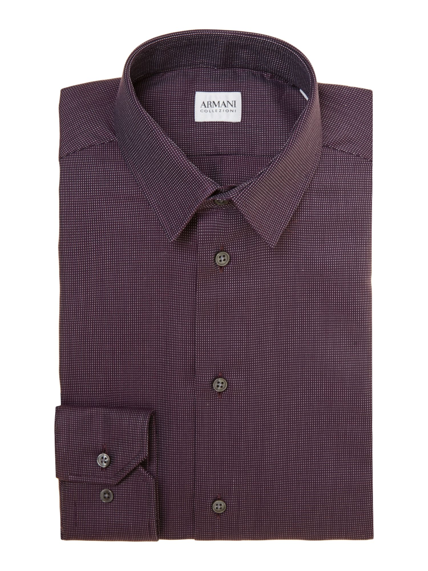 Small check slim fit shirt