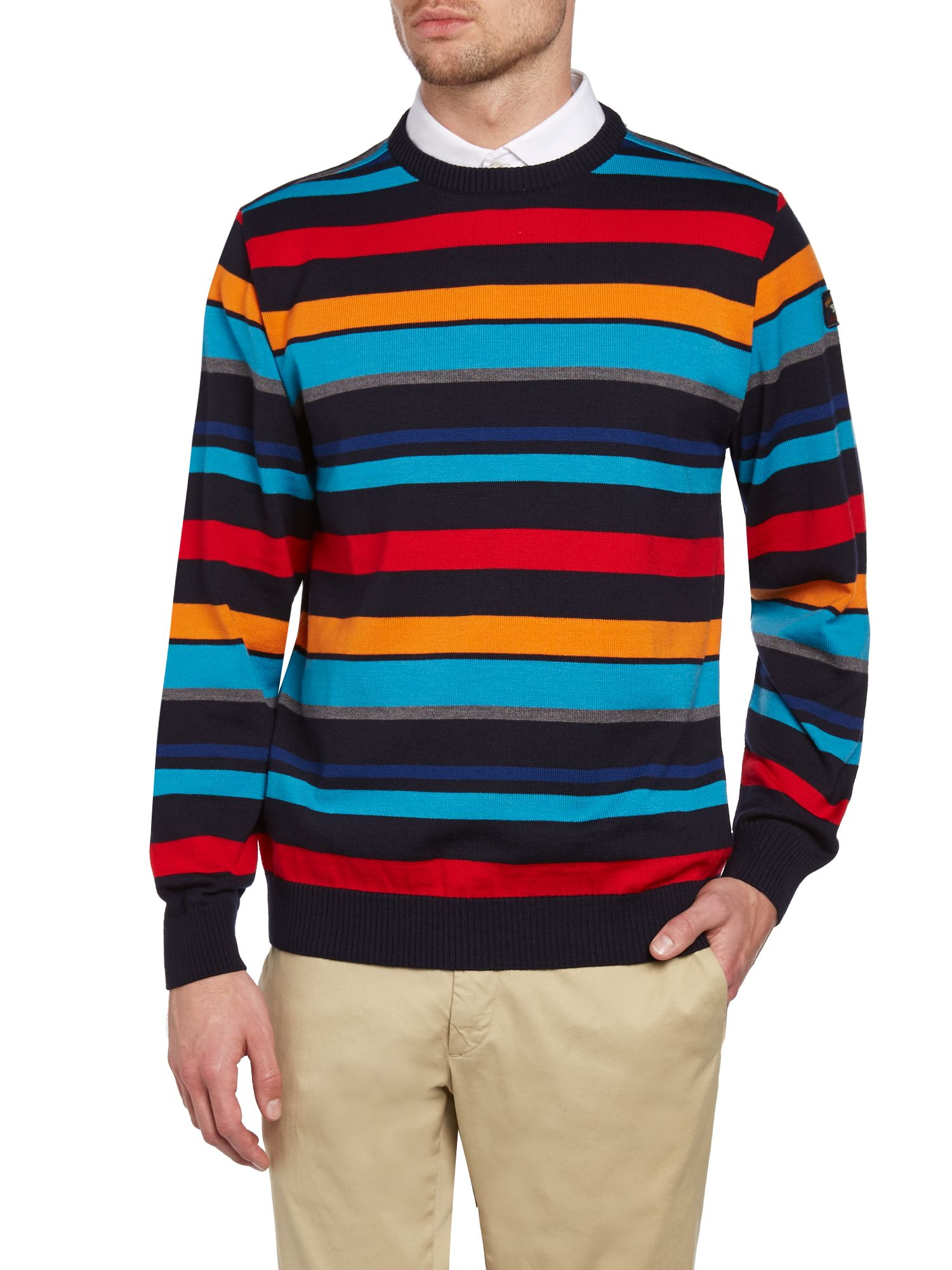 Paul & Shark multi stripe knit