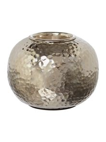 Casa Couture Hammered metal tea light holder