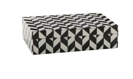 Living by Christiane Lemieux Monochrome patterned trinket box