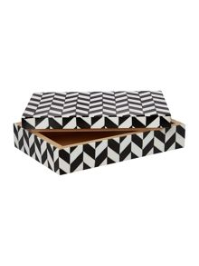 Monochrome patterned trinket box
