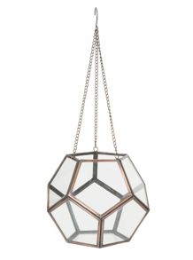 Hanging pentagon lantern, medium