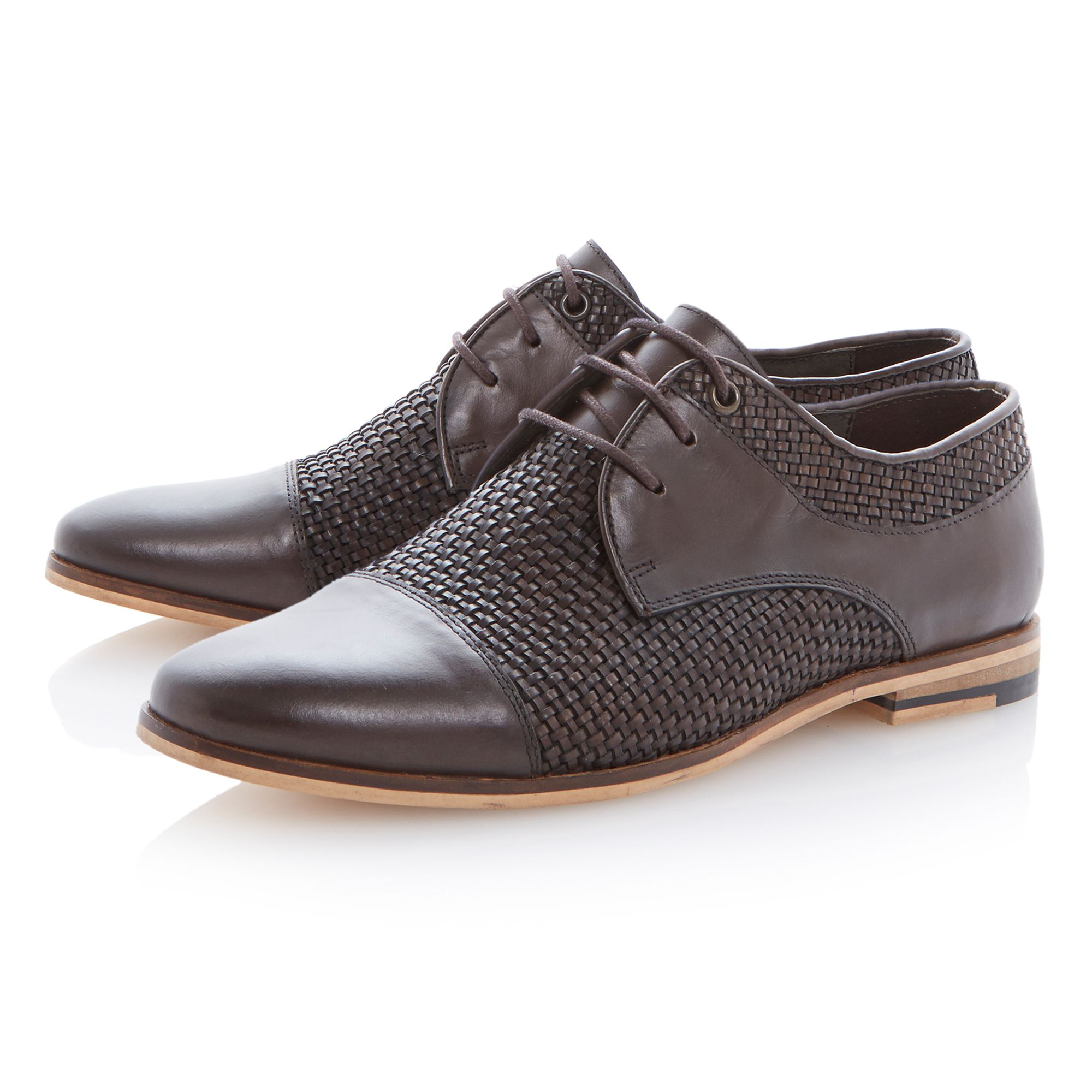 Bowie lace up woven toecap shoes