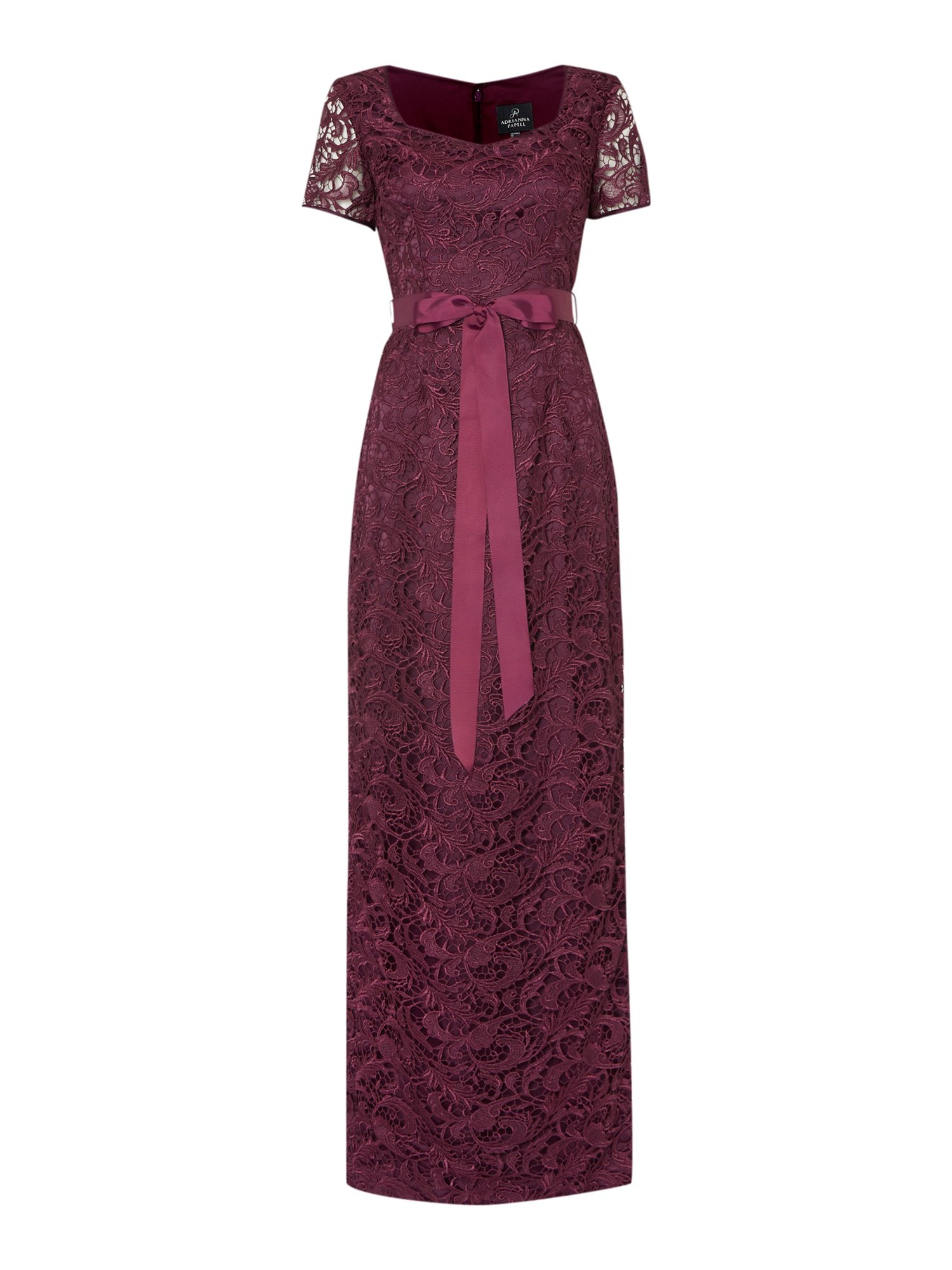 Adrianna Papell Evening Long Cap Sleeve guipure lace gown $80.00 AT vintagedancer.com