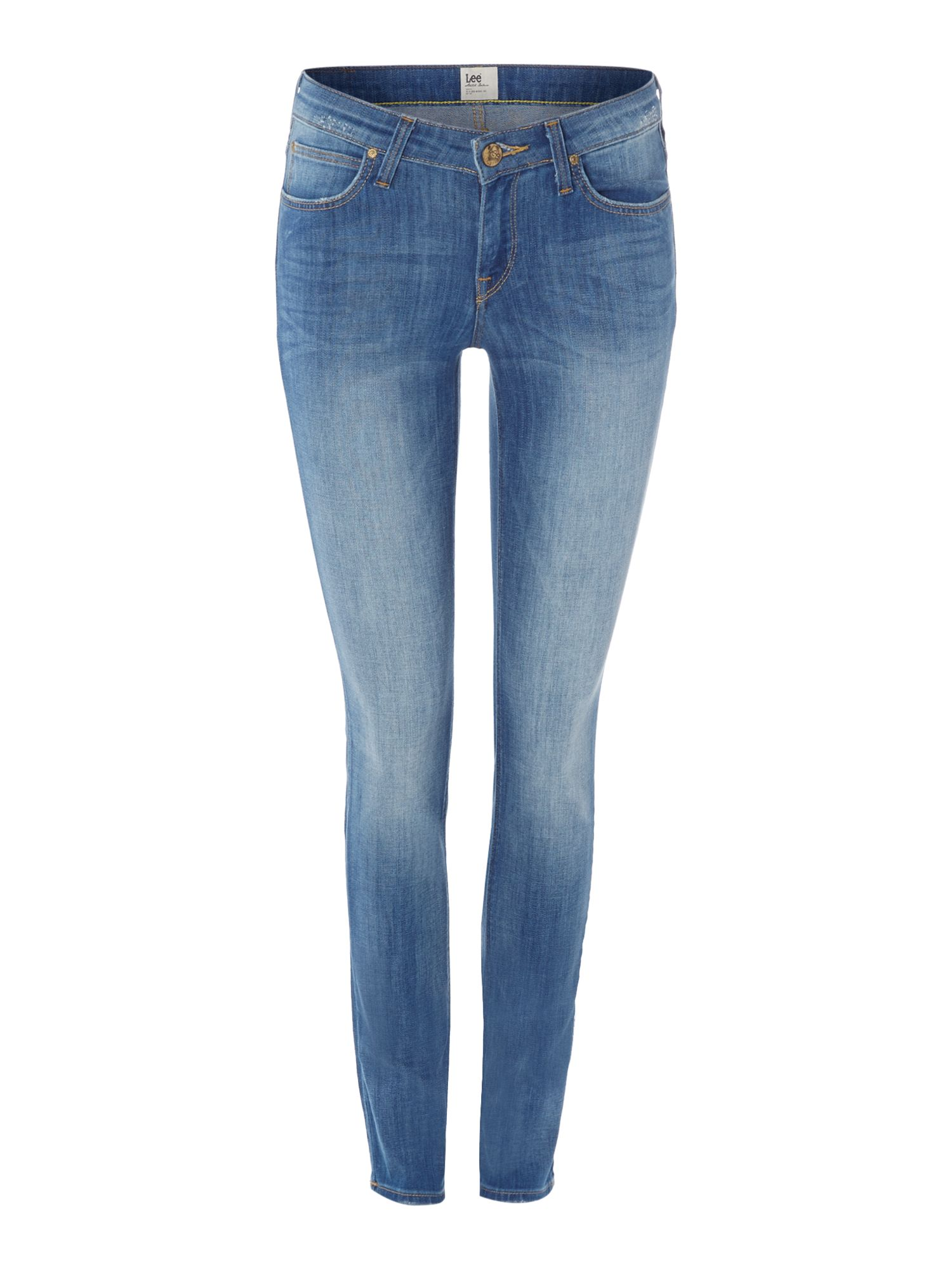 Scarlett skinny jean in crushed blue
