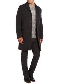 ltd wookey wool long line coat