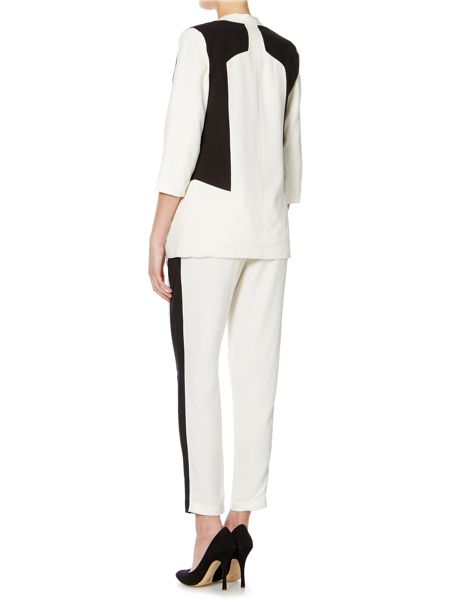 Y.A.S. Monochrome slim leg trousers