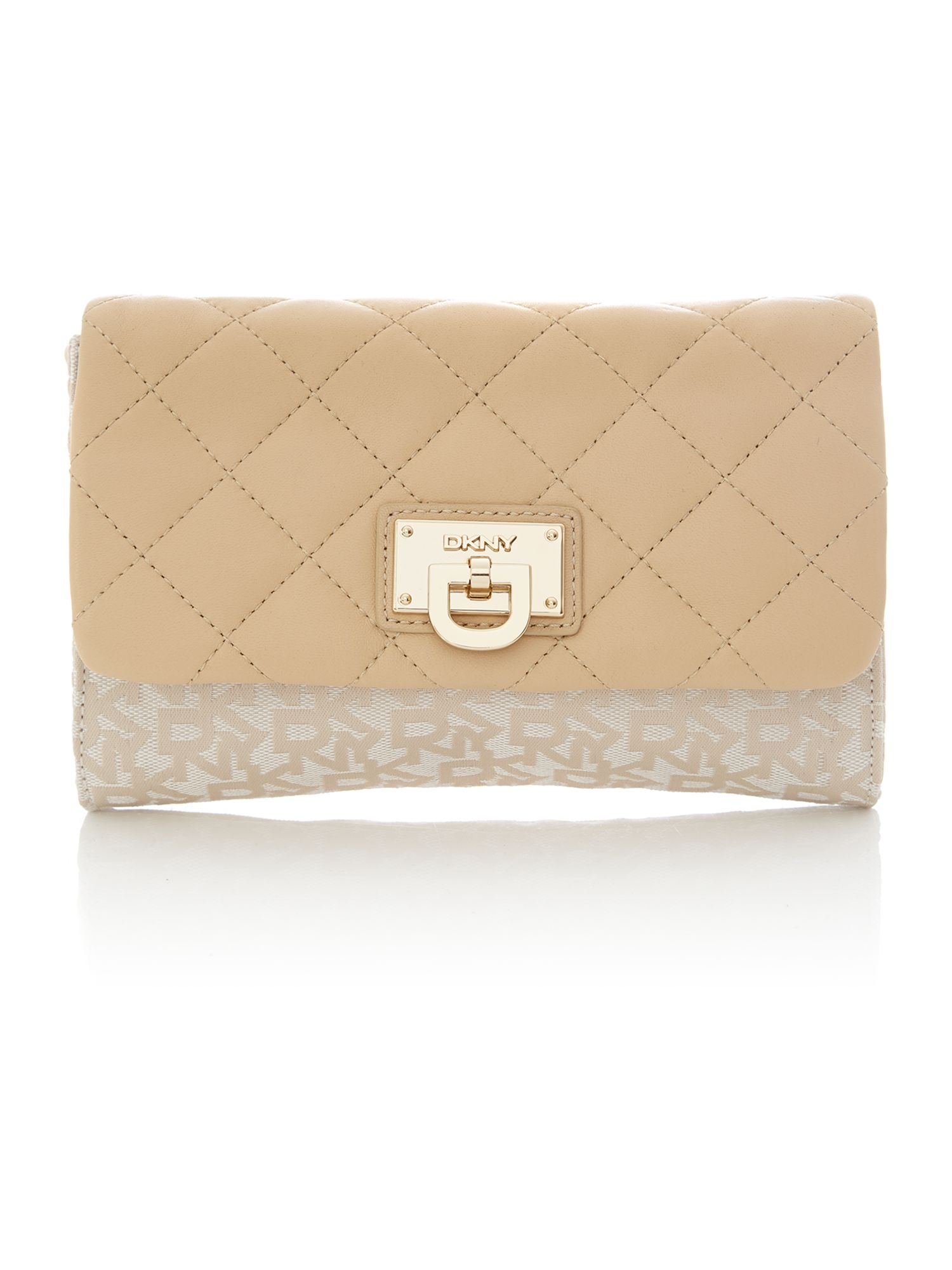 Quilted Nappa neutral small cross body bag