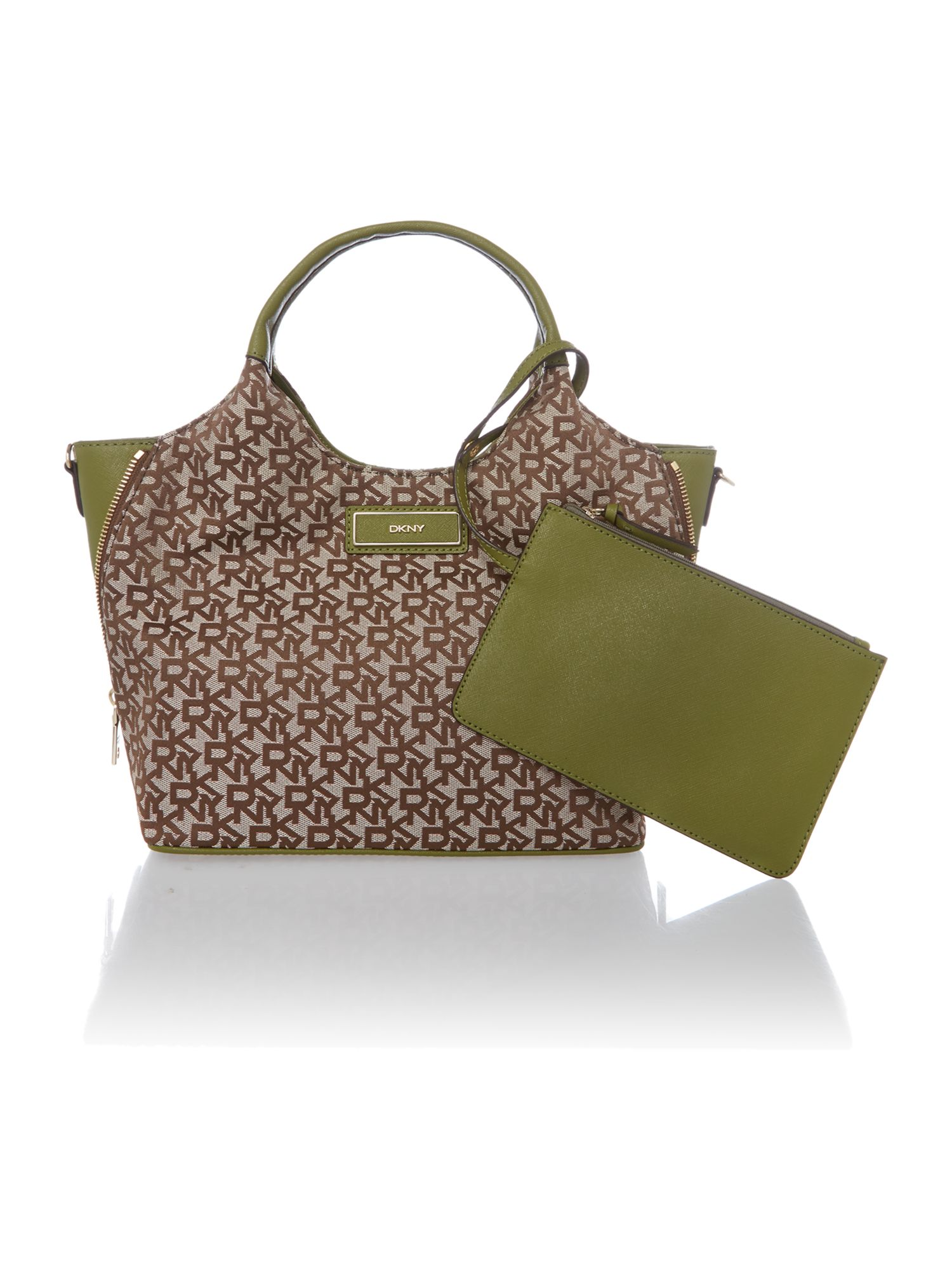 Saffiano green medium tote bag