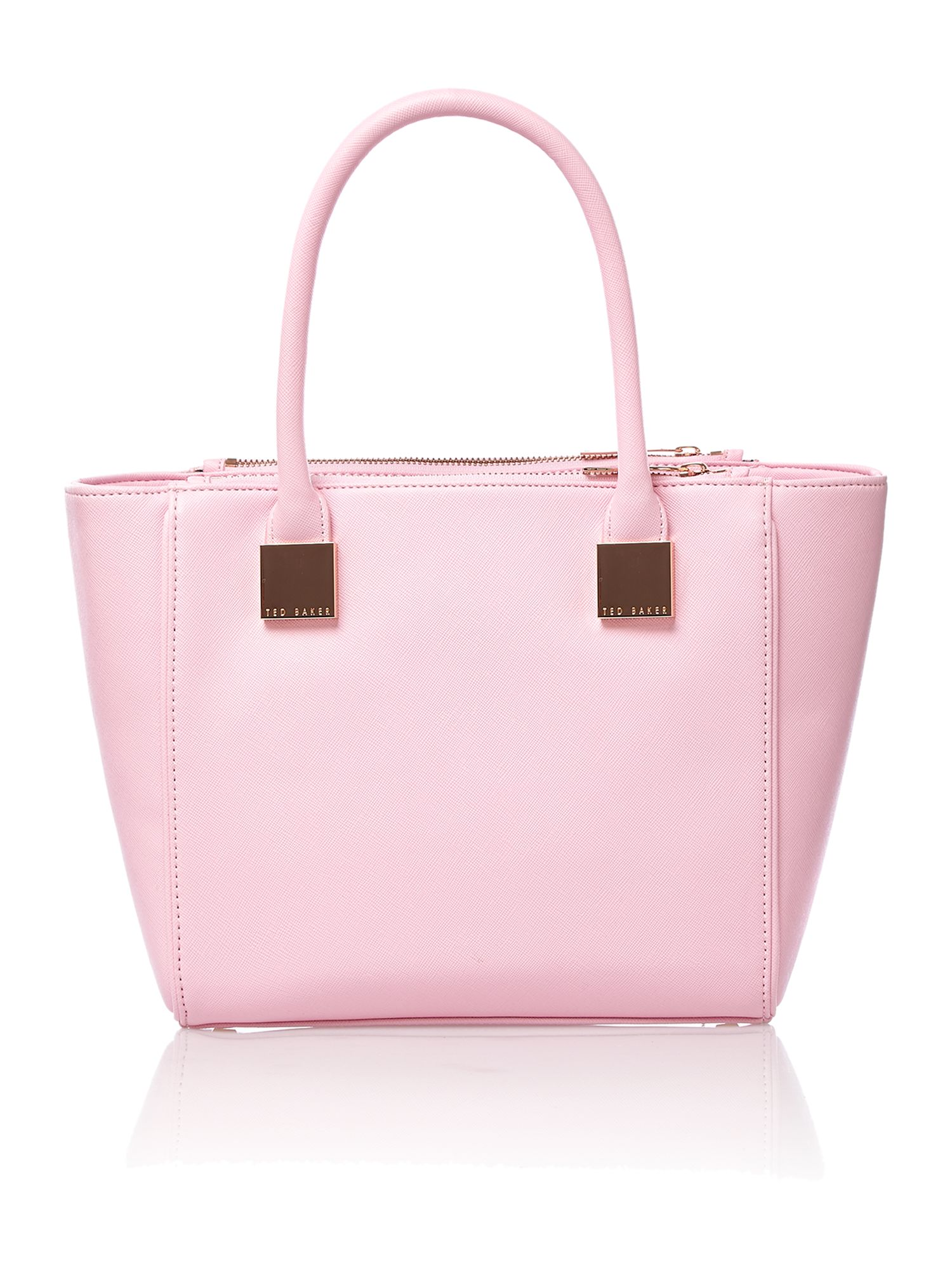Pink mini saffiano tote bag