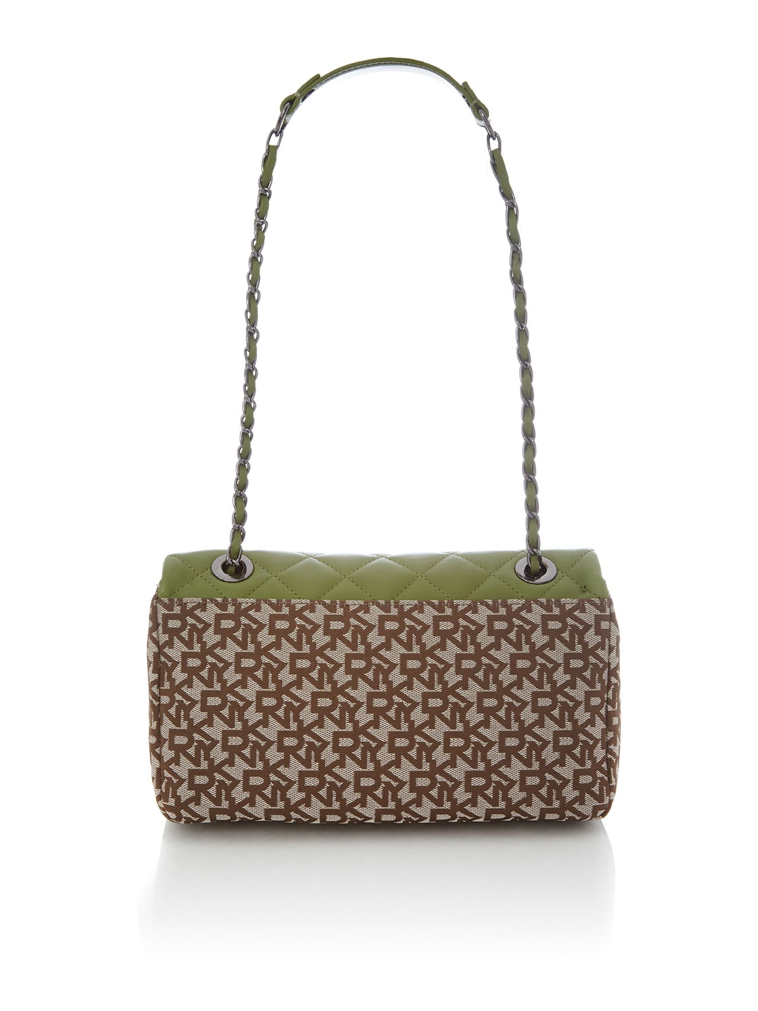 Quilted Nappa green small cross body bag