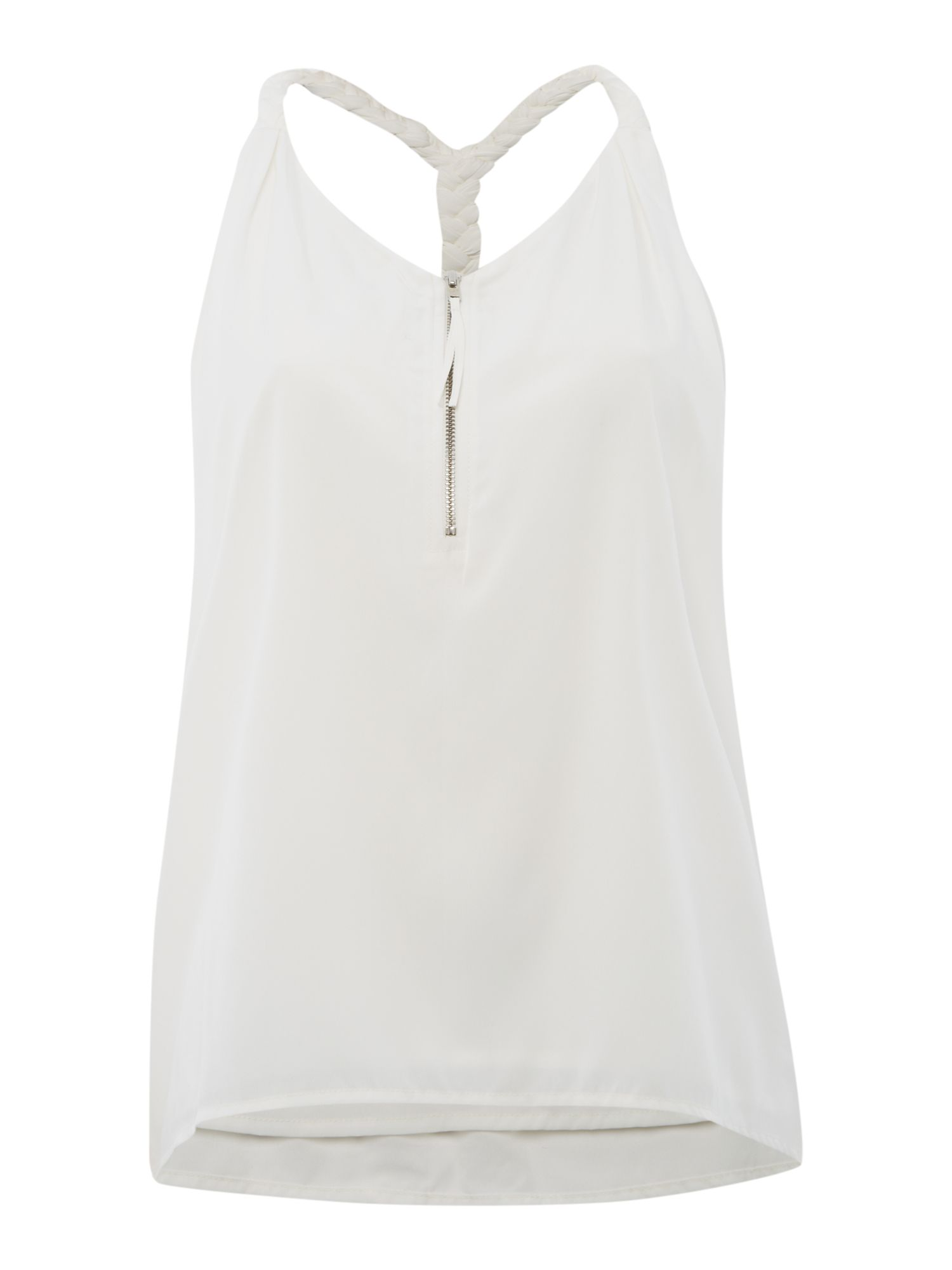 Plait racer back top