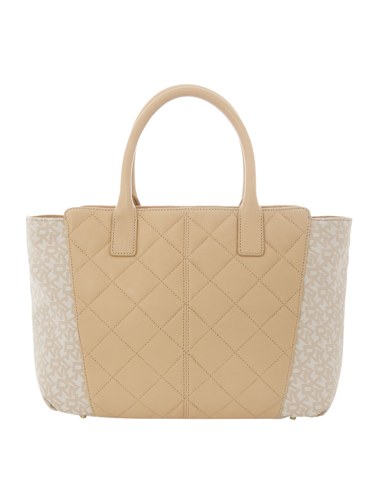 Quilted Nappa neutral tote bag