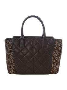 Quilted Nappa black tote bag