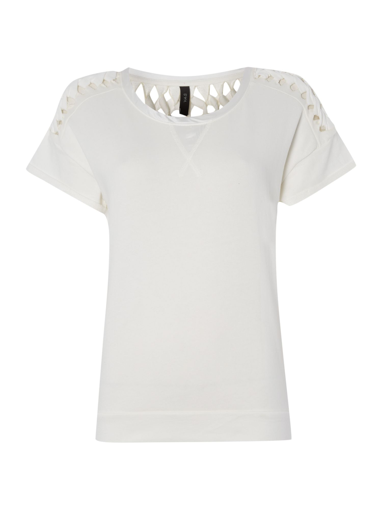 Short sleeve cut out tee