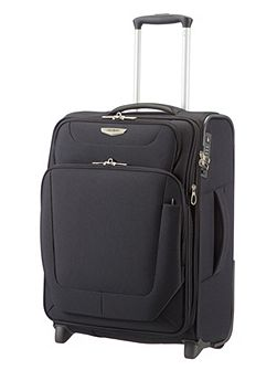 Spark black 2 wheel 55cm cabin suitcase