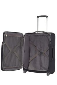 Samsonite Spark black 2 wheel 55cm cabin suitcase