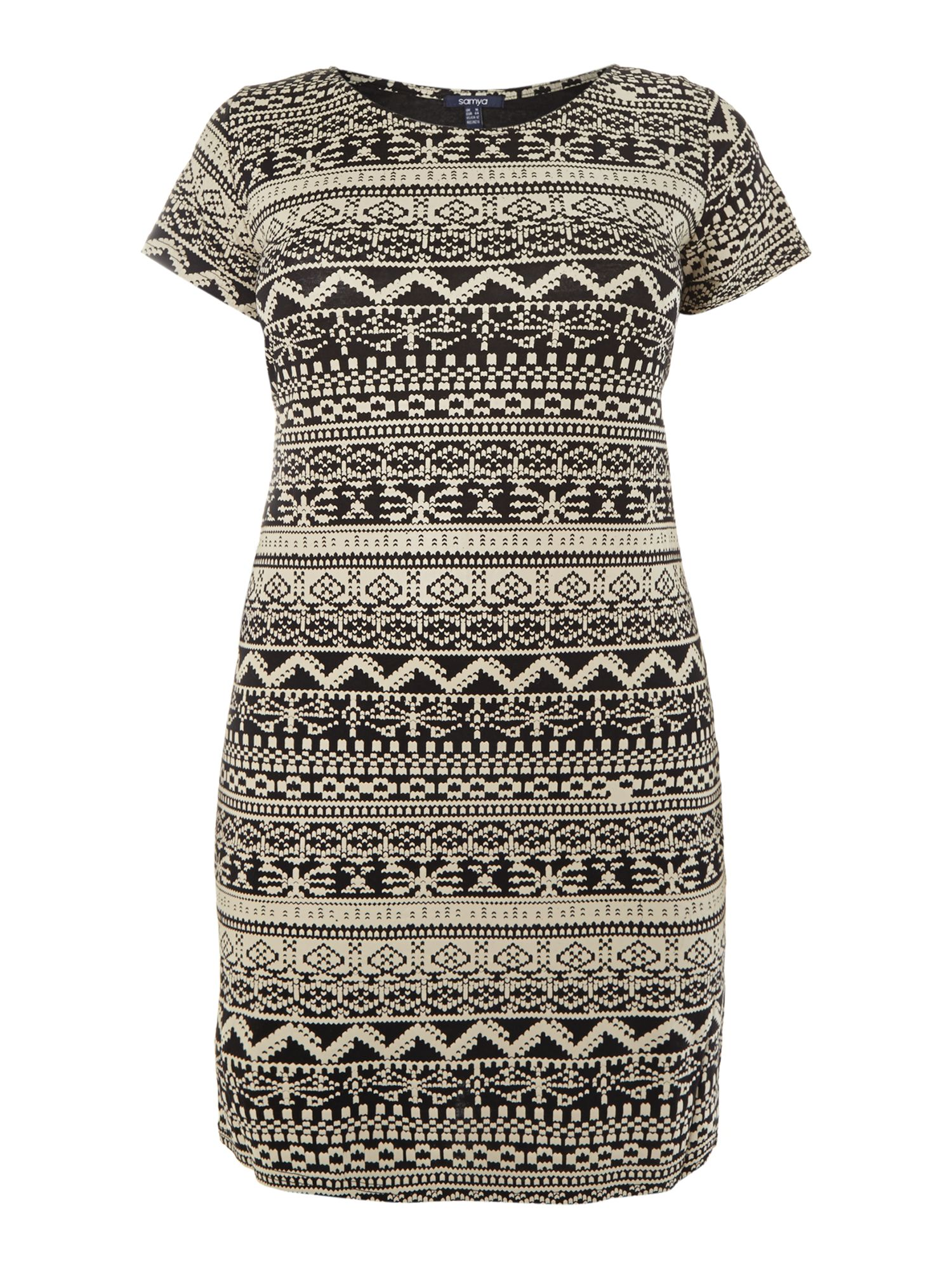 Aztec print tube bodycon dress