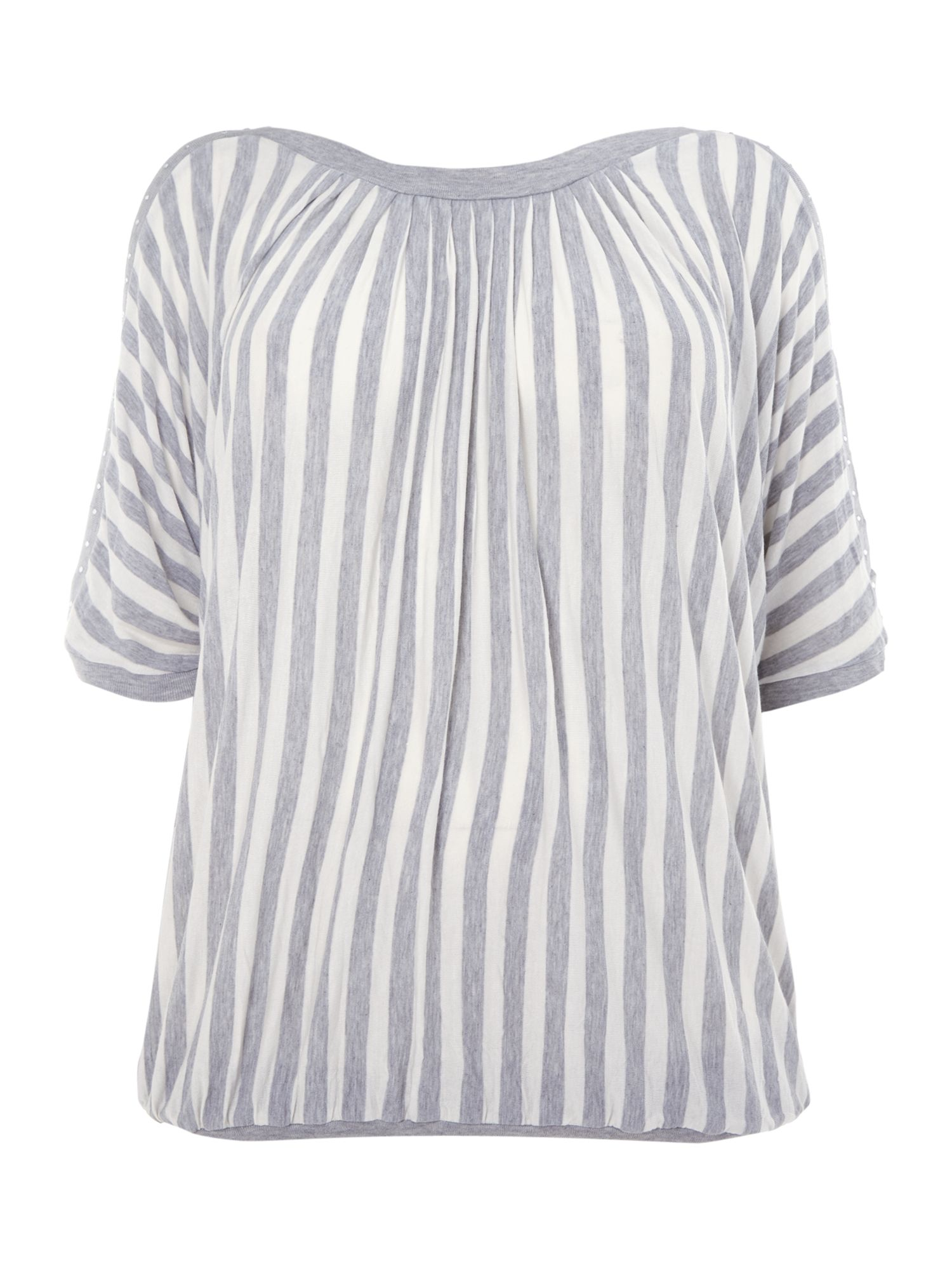 Vertical stripe print top