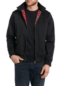 Harrington jacket with tartan lining