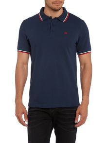 SS polo with tipping & embroidery