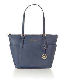 Michael Kors Jet set item navy small tote bag
