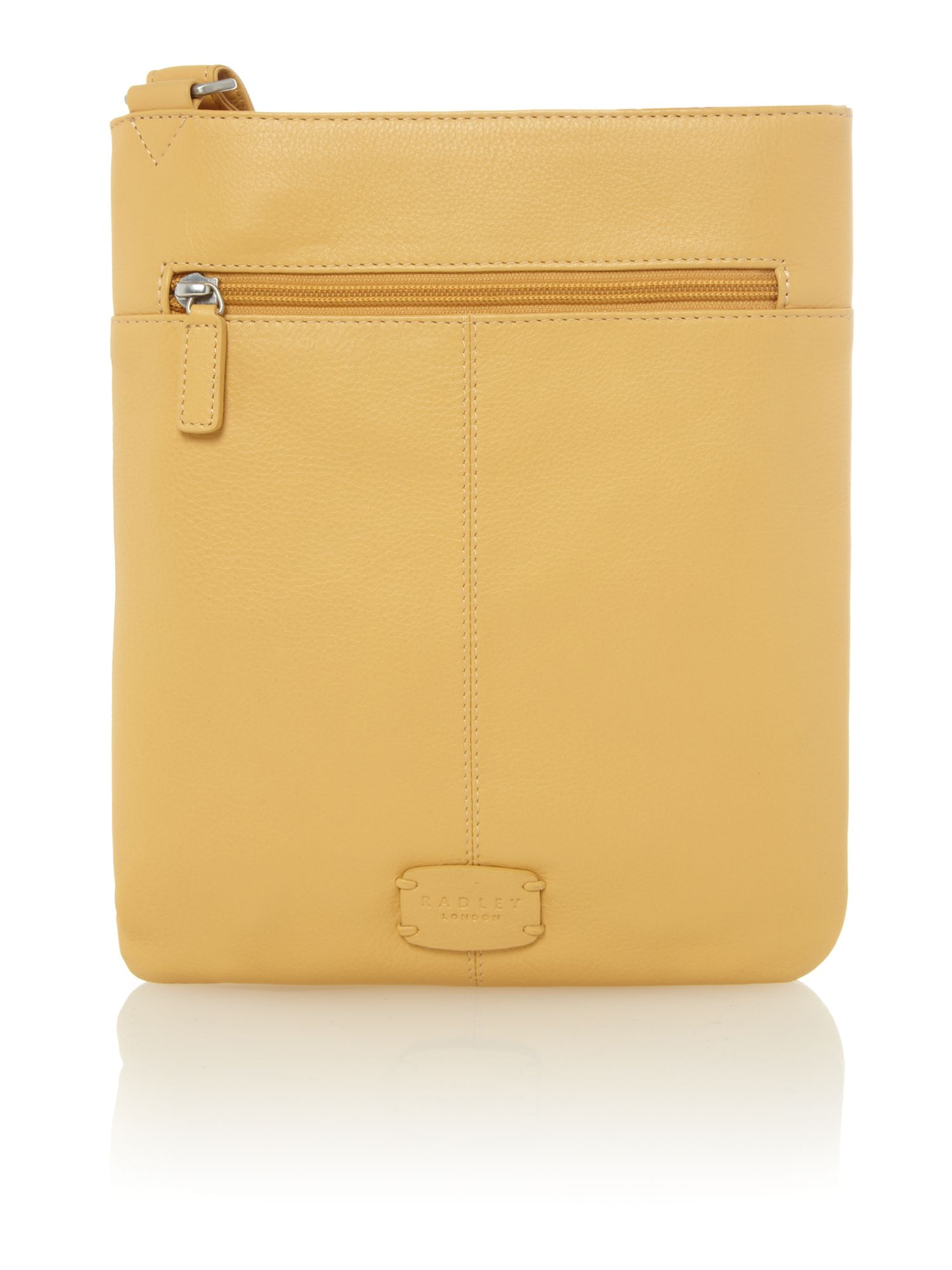 Yellow medium crossbody pocket bag