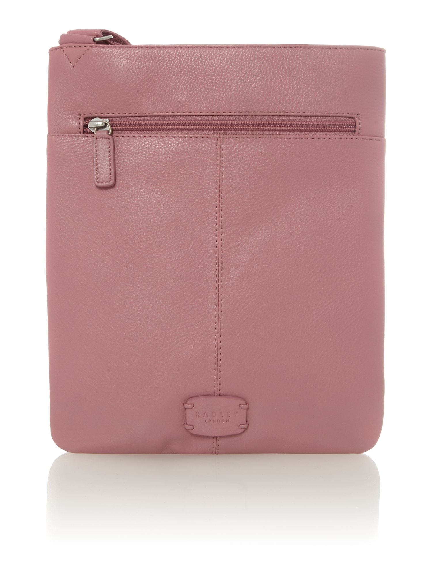 Pink medium crossbody pocket bag