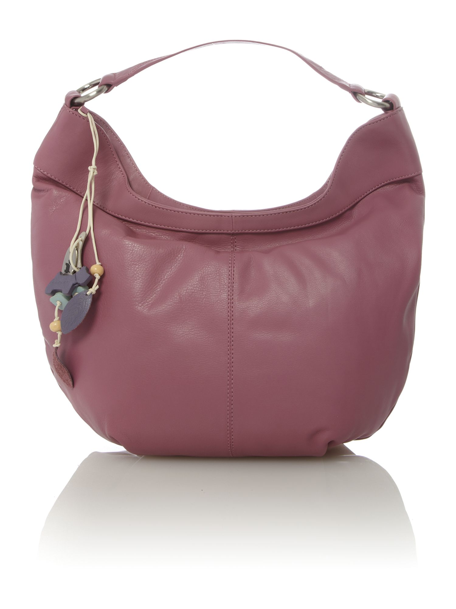 Johnston pink medium scoop shoulder bag
