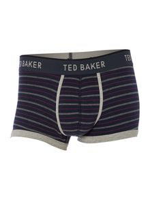Stripe boxer and sock in a box