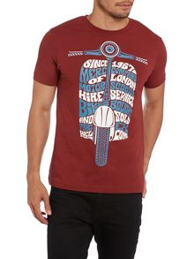 SS front scotter print tshirt