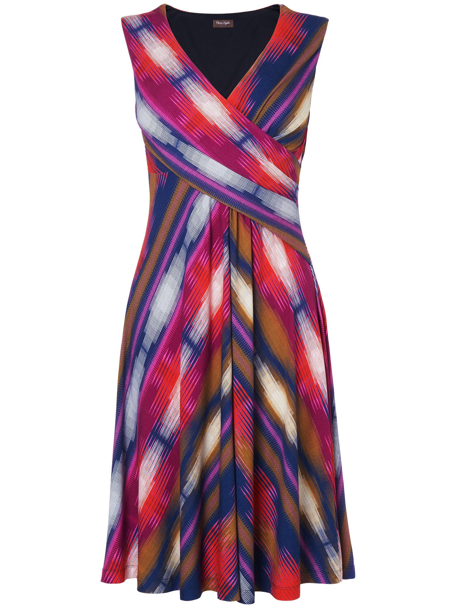 Clemence chevron dress