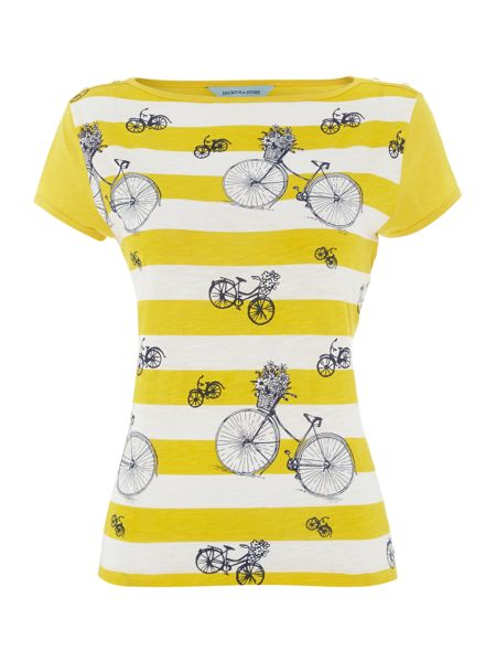 Dickins & Jones Stripe and bike t-shirt