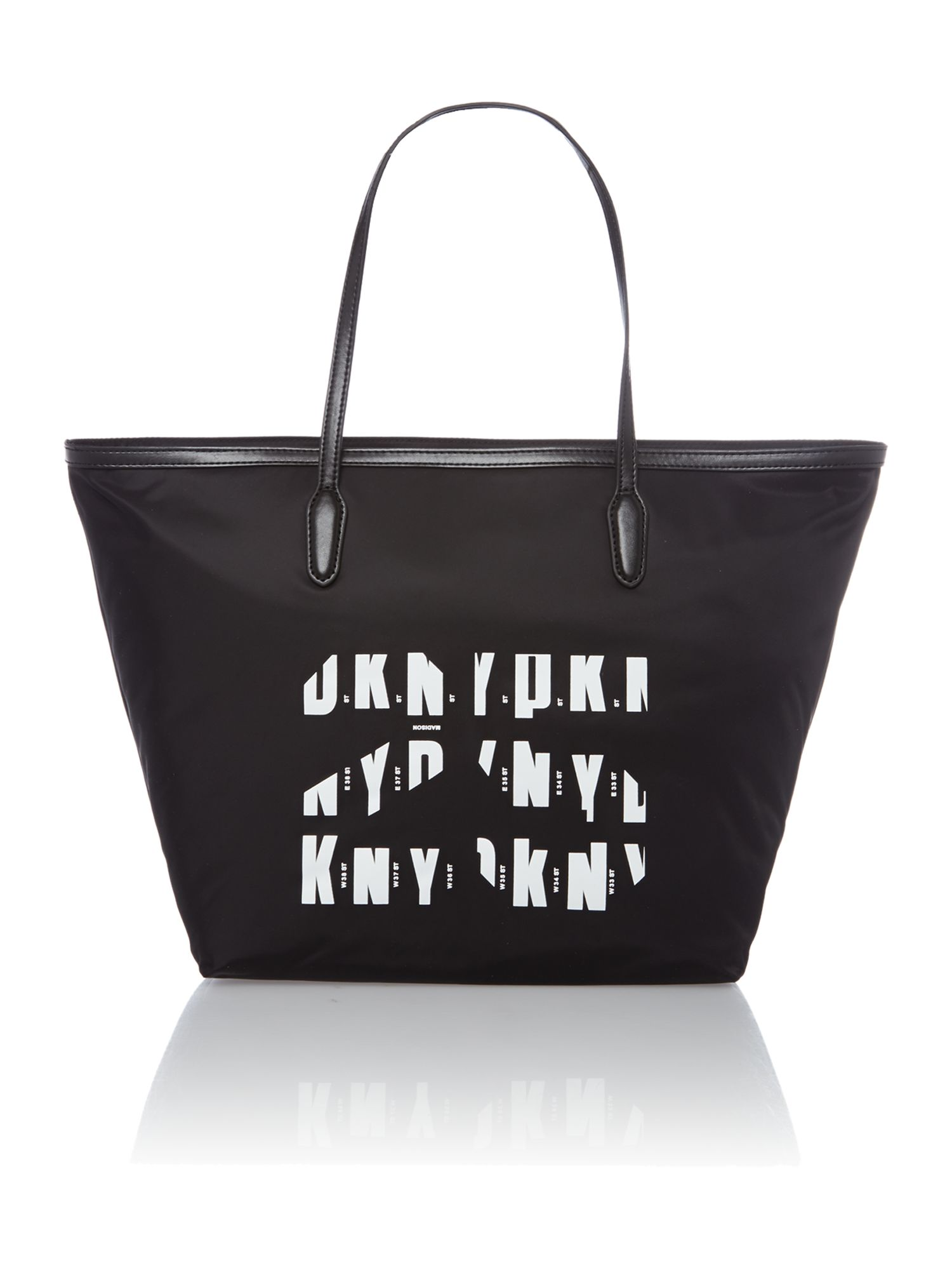 Black anniversary tote bag
