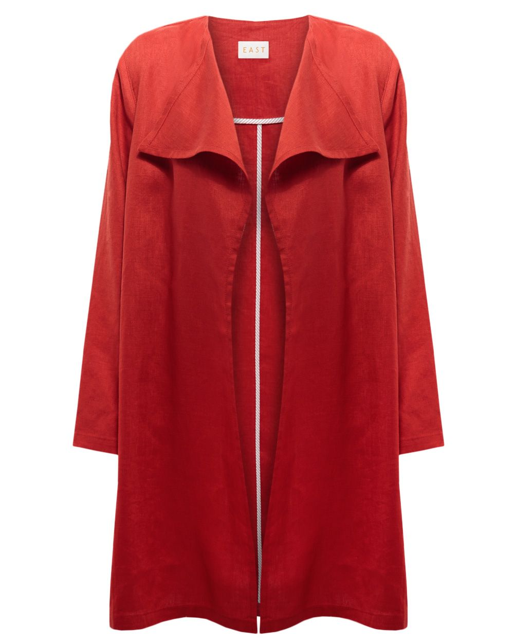 Linen waterfall coat