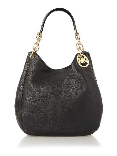 Michael Kors Fulton black large hobo bag