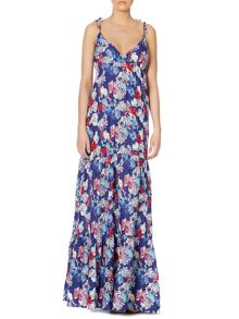 Maxi strappy floral dress